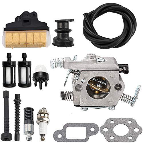 Kuupo WT-286 Carb MS250 Carburetor with Air Fuel Filter Line Repower Kit for STIHL Chainsaw Parts 021 023 025 MS210 MS230 MS 250 Easy Start Version