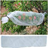 AllwaySmart Cut Your Own Fruit Tree Sleeves Protection Bags for Birds Bugs Apricot Cherry Tree Netting Net Protection Sleeves for Apples Peaches Plums Cover Whole Branch 1ft x 32.8 ft