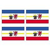 KIWISTAR Aufkleber 4,5 x 3 cm Mecklenburg-Vorpommern - Bundesland Autoaufkleber Deutschland Flagge Länder Wappen Fahne Sticker Kennzeichen