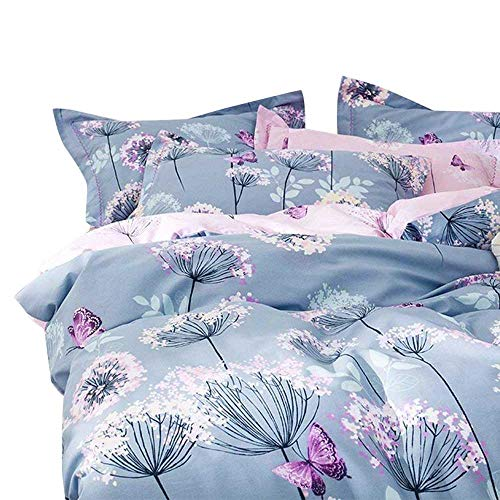pink and light blue bedding - 1