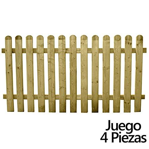 Papillon 8091580Set recinzioni jardin legno 180x 82cm (4pezzi)