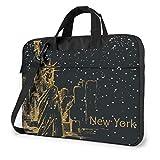 """15.6"""" Custodia Borsa PC Laptop Sleeve Case Briefcase Messenger New York con le stelle Manico Sacchetto Protettiva per Notebook"""