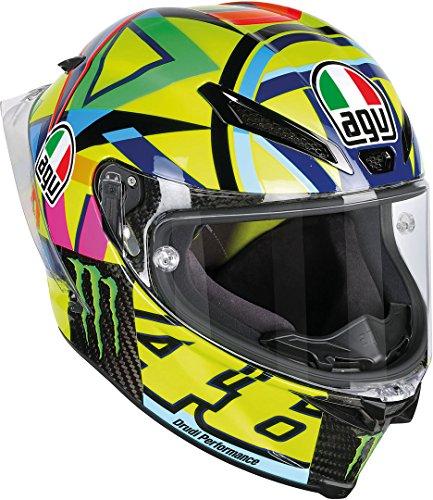 AGV Casco Moto Pista Gp R E2205 Top PLK, Soleluna 2016 Carbon, MS