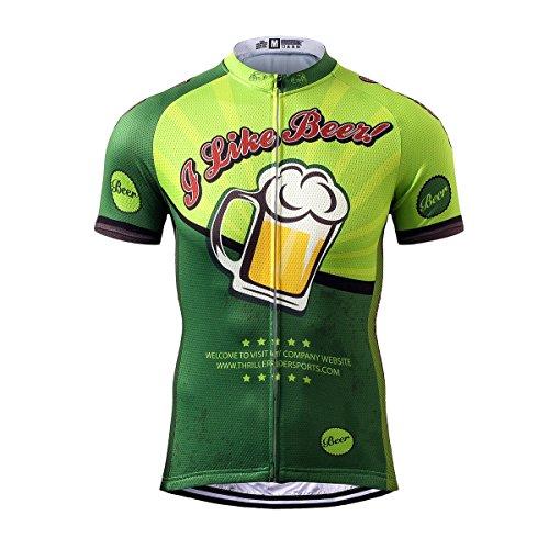 Thriller Rider Sports® Herren I Like Beer Sport & Freizeit MTB Fahrradbekleidung Radtrikot Large