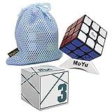 OJIN Yongjun YJ MGC 3x3 M Cube YJ MGC 3 Capas 3x3x3 Puzzle Cubo Mágico (Negro con una Bolsa y un trípode)