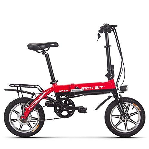 RICH BIT Bicicleta eléctrica RT-618, batería de Iones de Litio de 250...