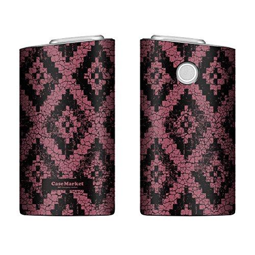 CaseMarket glo グロー ケース 専用 PUレザー プリント ハードケース テキサス ビンテージ バンダナ 4096 ワイン 電子タバコ 保護 カバー