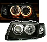 AD Tuning GmbH & Co. KG 960350 - Set de Faros Angel Eyes, en Cristal Transparente, Negro,