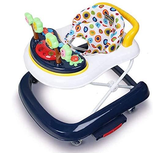 One Touch Folding Baby Walker, Met Padded Seat, Muziek En Geluiden Child First Step Walking Winkelwagen 2-In-1 Gebruik Als Push & Pull Toys, Voor Peuter