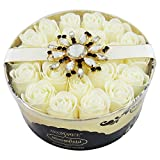 Gloss - caja de baño, caja de regalo para mujeres - Jabón de los pétalos de la flor - Bloomfield - almizcle blanco y flores