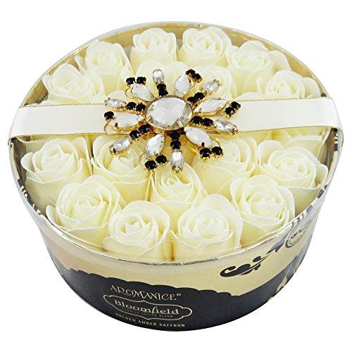 GLoss - Coffret De Bain Pour Femme - Spécial Fête des mères - Pétales de Savon - Collection Bloomfield - Fleurs Blanches et Muscs