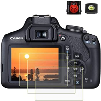 Dual Pack Bundle Lexerd Compatible with Canon Elura 70 TrueVue Crystal Clear Digital Camcorder Screen Protector