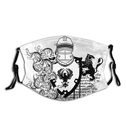 FULIYA Mascarillas faciales lavables reutilizables para mujeres y hombres, abrigo de caballero...