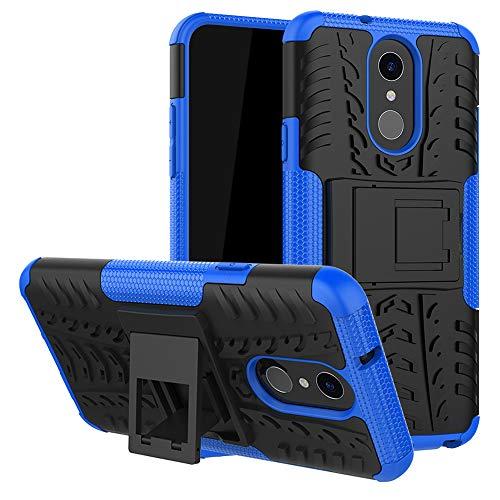 LFDZ LG Q7 Tasche, Hülle Abdeckung Cover schutzhülle Tough Strong Rugged Shock Proof Heavy Duty Hülle Für LG Q7 Smartphone (mit 4in1 Geschenk verpackt),Blau
