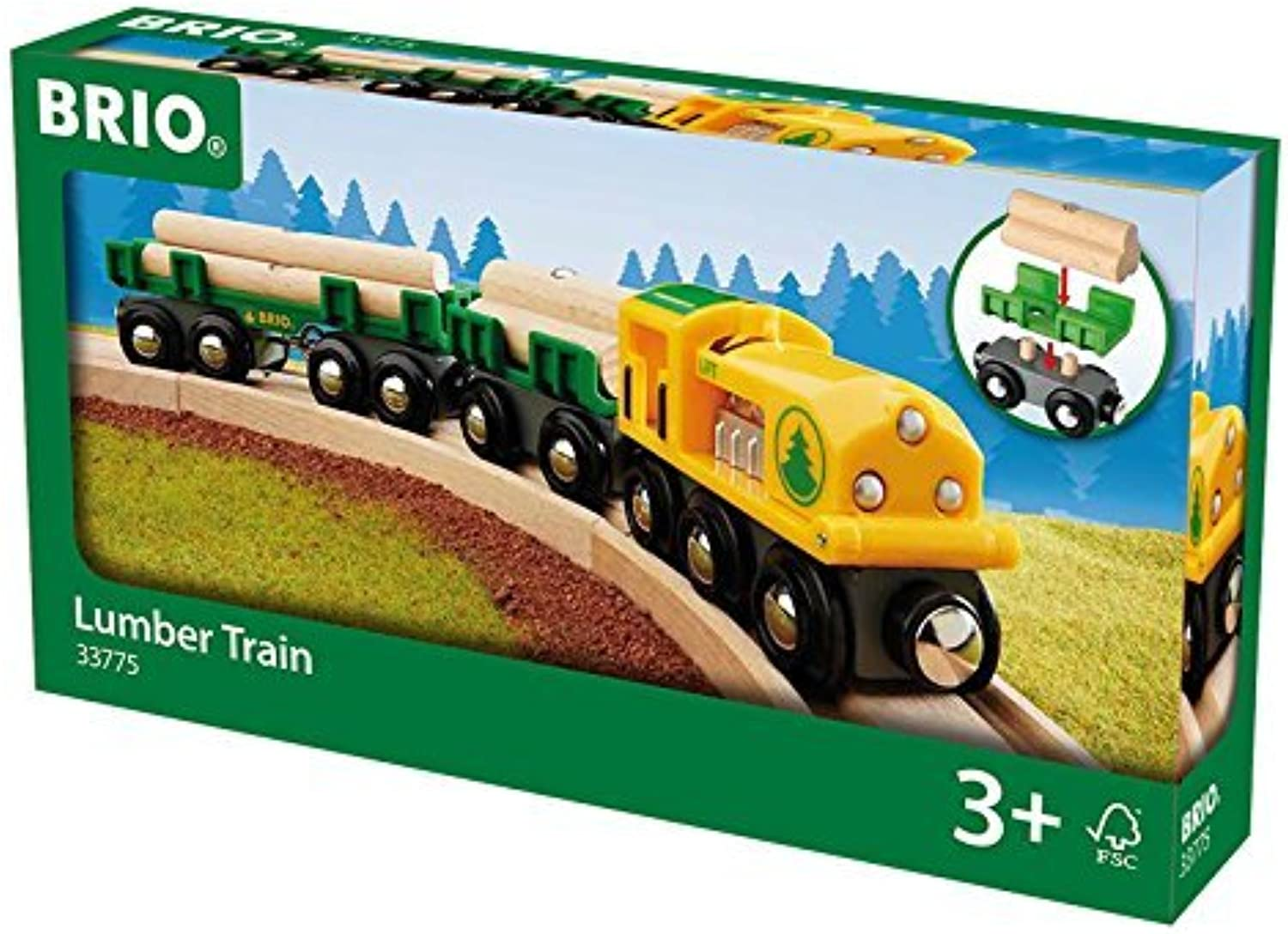 BRIO Lumber Train by Brio