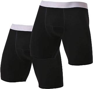 Kueh Men's Boxer Shorts Cotton Comfort Trunks Soft Breathable Mens Underwear Boxer Briefs(2 PCS)