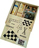 Ekeko Gambler, 4 Juegos en una Caja de Madera. Ajedrez, Damas, Domino y Mikado. Ekeko Gambler, 4 Sets in a Box. Chess, Checkers, Dominoes and Mikado.