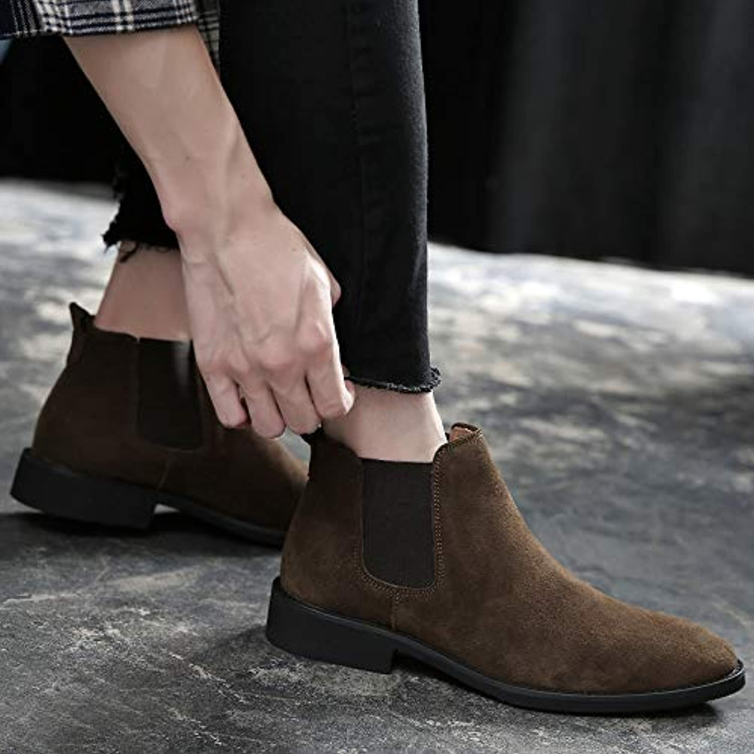 LOVDRAM Boots Men's Chelsea Boots Men'S Pu Pointed Boots In The Men'S Boots High Boots Martin Boots