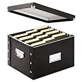 Snap-N-Store SNS01536 Snap N Store Storage Box, Letter/Legal, 16 1/4 x 9 3/4 x 13 1/4, Black