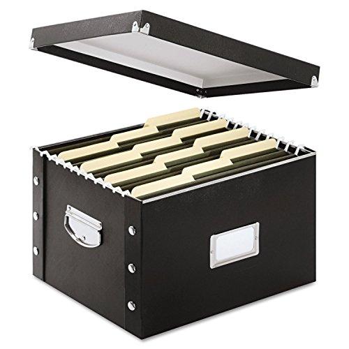 Snap-N-Store SNS01536 Snap N Store Storage Box, Letter/Legal, 16 1/4 x 9 3/4 x 13 1/4, Black
