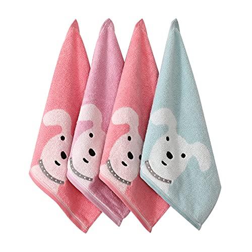 Toalla cuadrada de algodón puro lavado cara pequeña toalla cuadrada colgante toalla de lavado de cara absorbe el agua de secado rápido cocina limpia toalla de mano