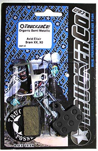 Organic Semi-Metallic disc Brake Pads Compatible with Sram Avid Elixir Models Elixir 9 7 5 3 1 Elixir C, R, CR, Mag Sram XX XO DB1 DB3 DB5 Level T BL red Force e-tap axs 2020 TLM ULT B-1 osm4