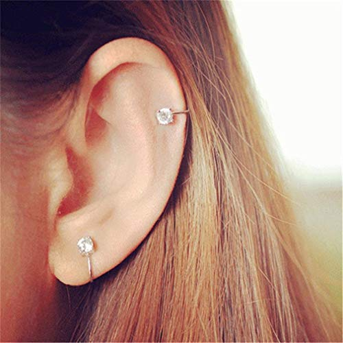 Besonderes Ohrringe ICHQ 1 Paar Zircon schmerzloser Ohrloser Ohrclip Damen Mädchen Lang Ohrringe Ohrstecker Ohrschmuck hängenden (A)