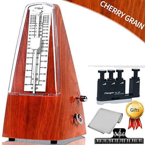 Transparente Farbe / Holzimitat Farbe Qualität ABS Kunststoff Shell Klavier Mechanisches Metronom + Fingerkraft + Klavier + Spektrum Clip, Gitarre Violine Guzheng Universal Rhythm