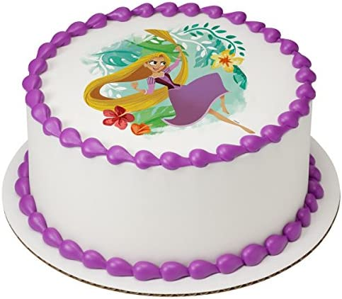 Tangled edible cake image frosting sheet topper party decoration