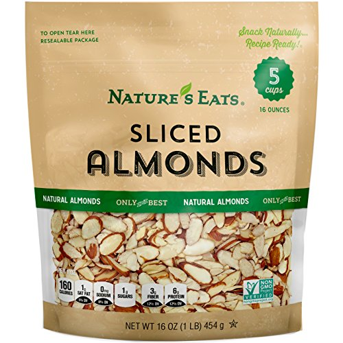 Nature#039s Eats Natural Sliced Almonds 16 Ounce