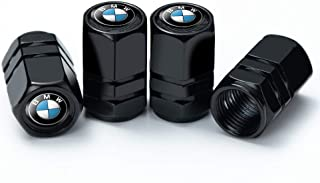 IJUSTBY 4 Pcs Metal Car Wheel Tire Valve Stem Caps for BMW X1 X3 M3 M5 X1 X5 X6 Z4 3 5 7SeriesLogo Styling Decoration Accessories.