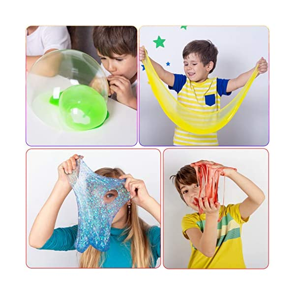 DIY Slime Kit for Girls Boys Aged 5-12 Glow in the Dark Slime Making Kit for Girls' Parties, 18 colors Unicorn Slime Kit for Girls with Beads, Sequins, Hearts and More, Gift Slime Kits for Girls Boys 9