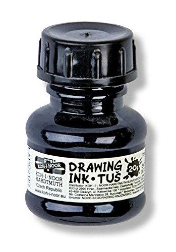 Koh-I-Noor 014172200000 Zeichnung Tinte 20 g, ink, schwarz, 3.1 x 3.1 x 5.0 cm
