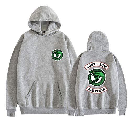 WUJIAJIA Pullover Hooded Sweatshirt Hombre, Uniforme De Hip Hop Suelto De Bolsillo Canguro, Riverdale Sudadera con Capucha