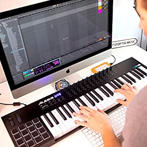 Alesis VI49   49-Key USB MIDI Keyboard Controller with 16 Pads, 16 Assignable Knobs, 48 Buttons and 5-Pin MIDI Out Plus Production Software Included