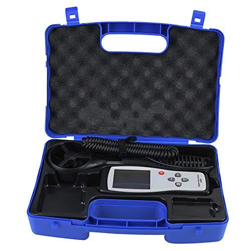 Smart Sensor Anemometer Windgeschwindigkeitsmesser AS836 Tragbares Anemometer Digital Windgeschwindigkeit Messgerät für Messung von Luftgeschwindigkeit, Luftstrom, Temperatur, Thermo-Anemometer