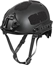 Outry Tactical Fast Helmet, Adjustable ABS Helmet with Side Rails and NVG Mount, Fast Ballistic Helmet for Airsoft Paintball Hunting Shooting Outdoor Sports