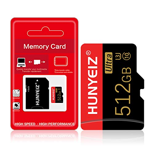 Micro SD Card 512GB High Speed MicroSD Card for Nintendo Switch,Class 10 Memory Card for Android Smartphone Digital Camera Tablet and Drone(512GB) with Adapter