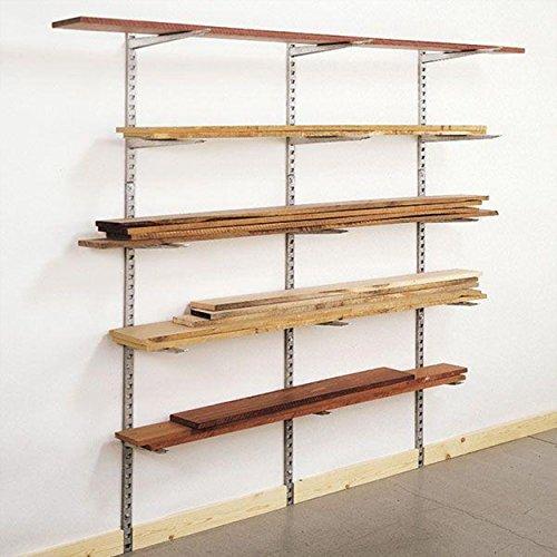 KASTFORCE KF1006 Lumber Storage Rack 6-Level System 110 lbs (50kg) per Level with Durable Sheet Metal Screws, Wood Rack, Workshop Rack