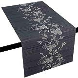 Miami 3D Druck Tischläufer Tablerunner Breite 40 cm Länge und Farbe wählbar Grau 40 x 100 cm