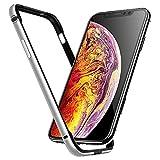 SGGFA Cubierta para iPhone 12 Mini 11 Pro MAX 12PRO 11PRO X XS XR 8 7 IPHONE12 Caja de Parachoques de Lujo Accesorios de Silicona de Aluminio Protector de Lujo