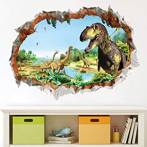 Dinosaurier Wandtattoo Wandaufkleber,Dinosaurier Wandtattoo Kinder,Dinosaurier Wandtattoo Groß,Dinosaurier Wandsticker Kinderzimmer,Dinosaurier Kids Wandtattoo