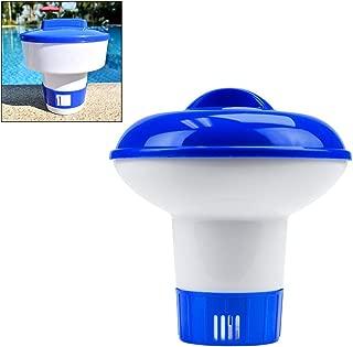 Hihey Dosificación de Productos químicos flotantes Flotador Limpiador de Piscinas de 5 Pulgadas Clorador Flotante de Gran Capacidad Inyector Dispensador de Cloro