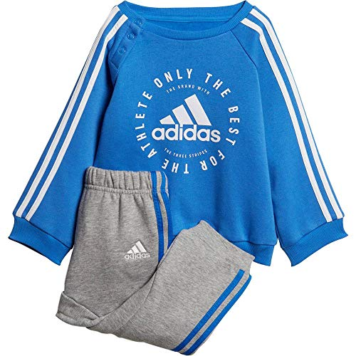 adidas Unisex Baby 3 Stripes Jogger Trainingsanzug, Mehrfarbig  (true blue / white), 98