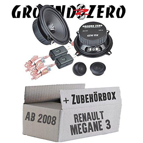 Ground Zero GZIC 13X Kompo - 13cm Lautsprecher System - Einbauset für Renault Megane 3 - JUST SOUND best choice for caraudio