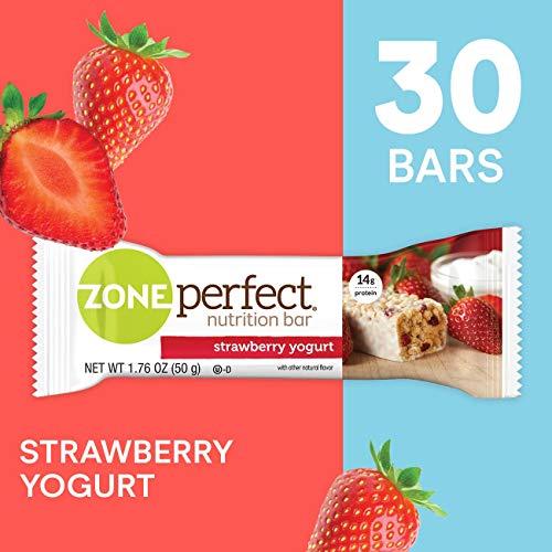 ZonePerfect Nutrition Snack Bars, Strawberry Yogurt, 1.76 oz, (30 Count)