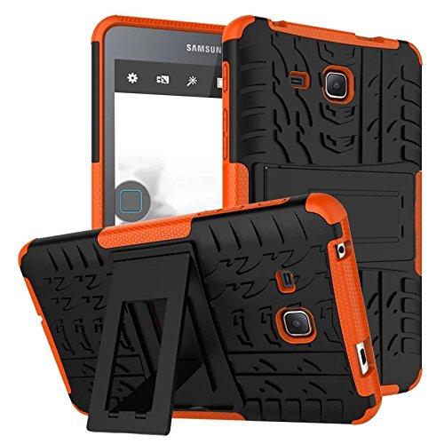 Samsung Galaxy Tab A7 Tablet Case,XITODA Hybrid Armor Cover Tough Protective Skin Hard Kickstand Tablet Case for Samsung Galaxy Tab A 7.0 Inch SM-T280/T285 Tablet-PC - Orange