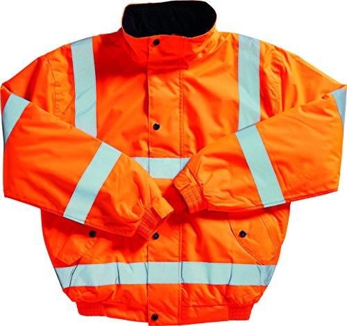 Blackrock - Giacca bomber ad alta visibilità, EN20471, classe 3, L, Arancione, 1
