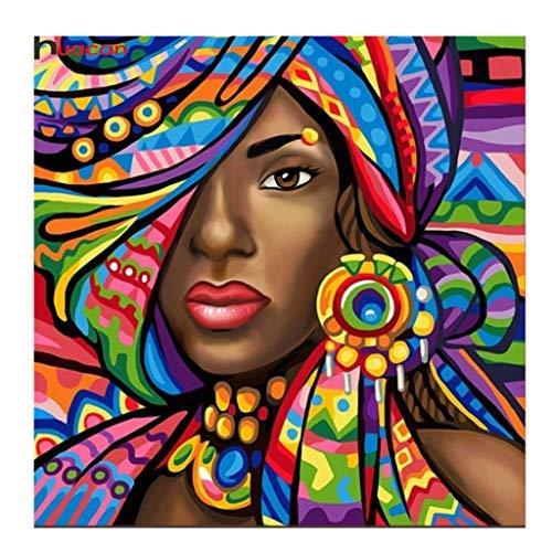 5D Diamond Painting Schilderij Set, Diamant Schilderen DIY Afrikaanse Vrouw Rhinestone Borduurpakketten Met Kraaltjes Kunst Ambachten Canvas muur sticker Home Decor 25 x 25 cm