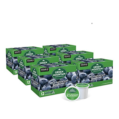 Green Mountain Coffee Roasters Wild Mountain Blueberry, Single-Serve Keurig K-Cup Pods, Flavored Light Roast Coffee, 72 Count